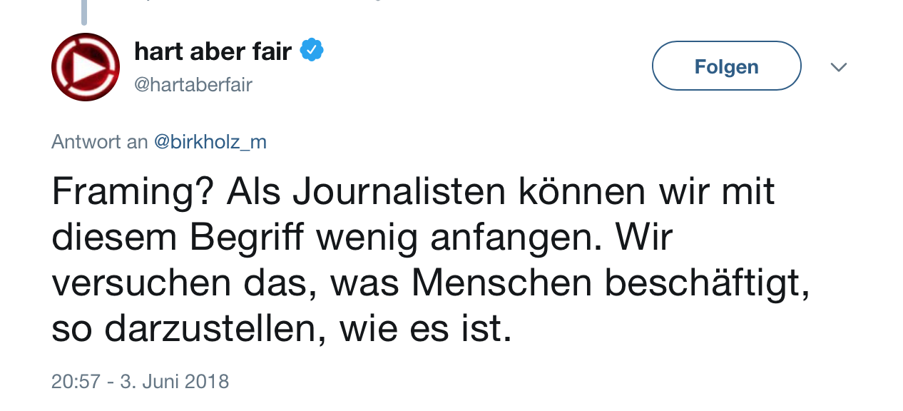 """Screenshot Twitter-Account von """"hart aber fair"""" am 04.06.2018 um 11:17 Uhr."""
